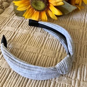 ASHLEY SUNSHINE Heather Gray Knotted Headband